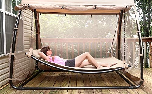 Hanging Swing Hammock with Mosquito Net