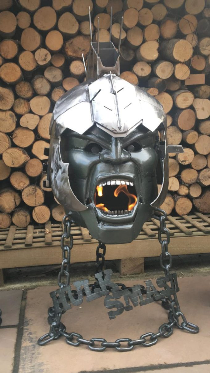 The Hulk - Themed Wood Burners And Fire Pits