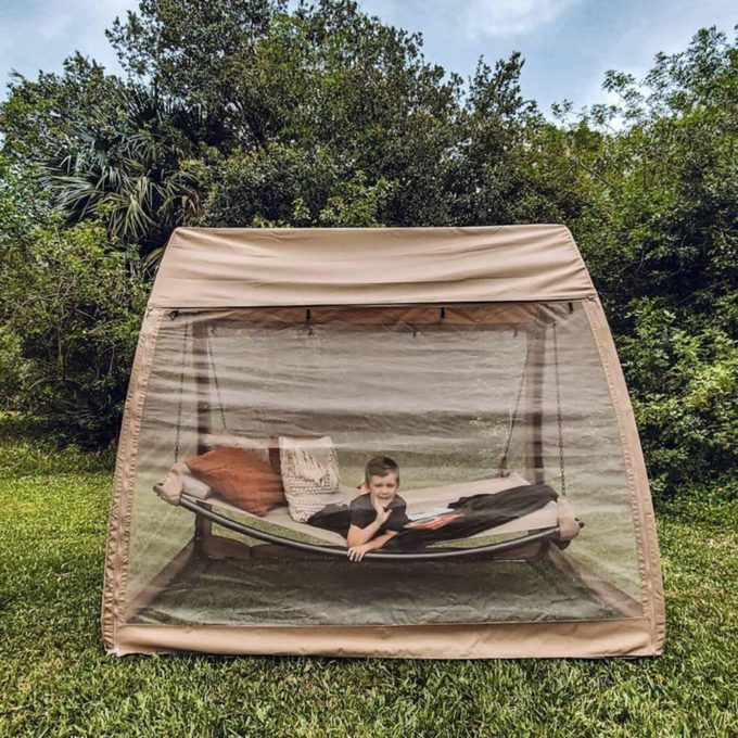 Hanging Hammock Swing Bed with Mosquito Net