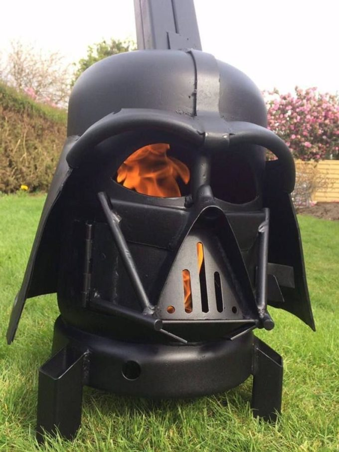 Darth Vader -These Themed Wood Burners And Fire Pits Go Above and Beyond