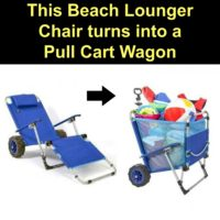 2-in-1 Beach Lounger - Doubles as a Wagon For Easy Beach Trips