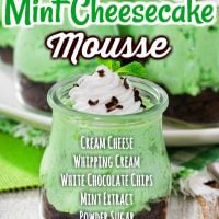 No-Bake Mint Cheesecake Mousse