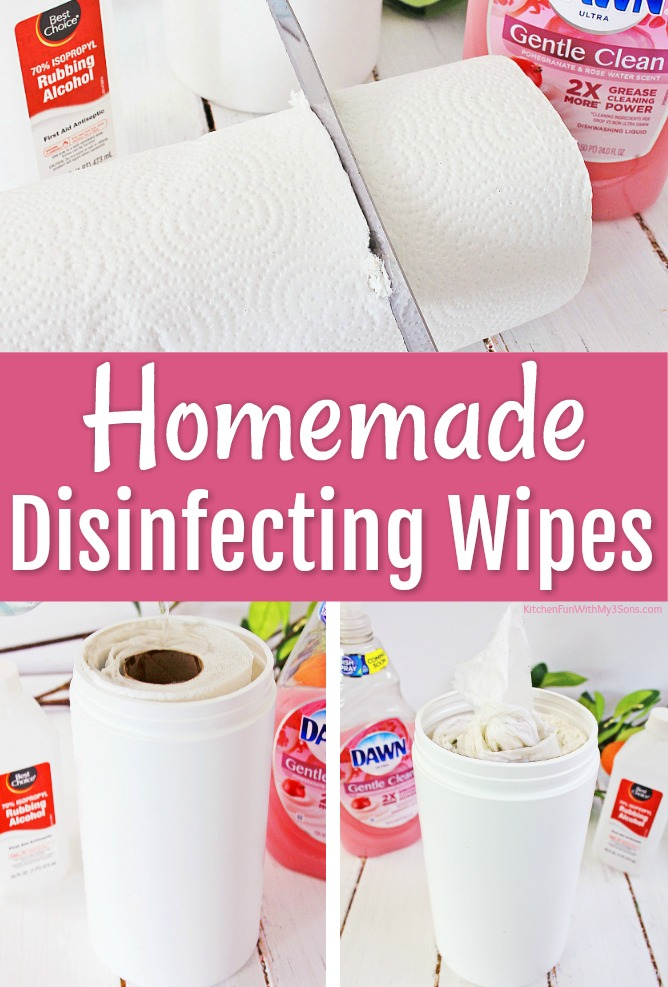 Homemade Disinfecting Wipes - Kitchen