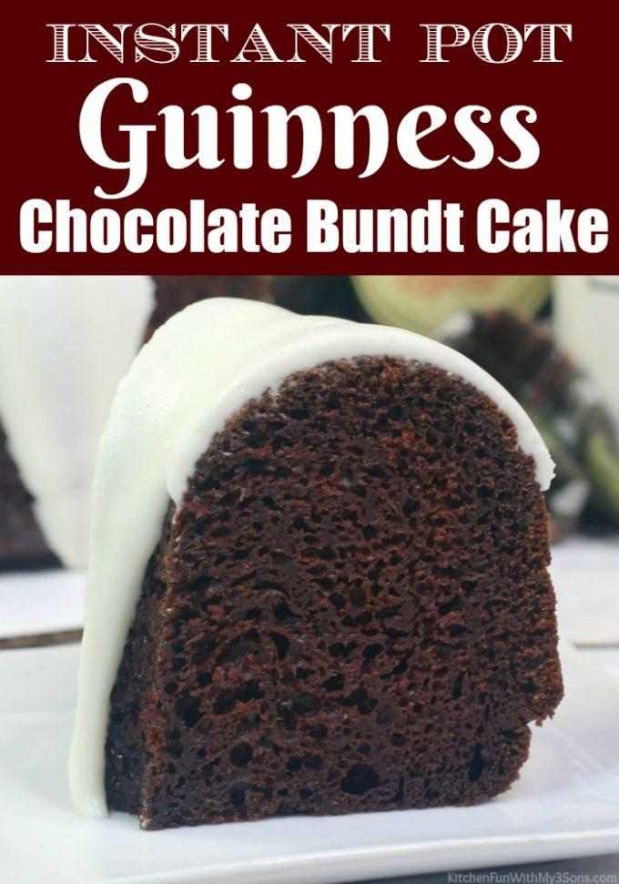 Instant Pot Guinness Chocolate Bundt Cake