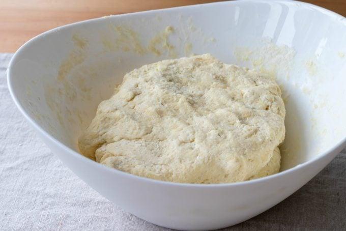 Homemade Dough in a Bowl