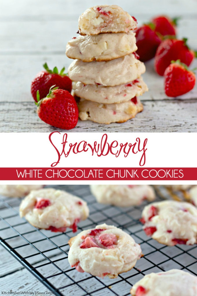 Strawberry White Chocolate Chunk Cookies