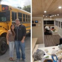 Couple Converted School Bus to Tiny Home