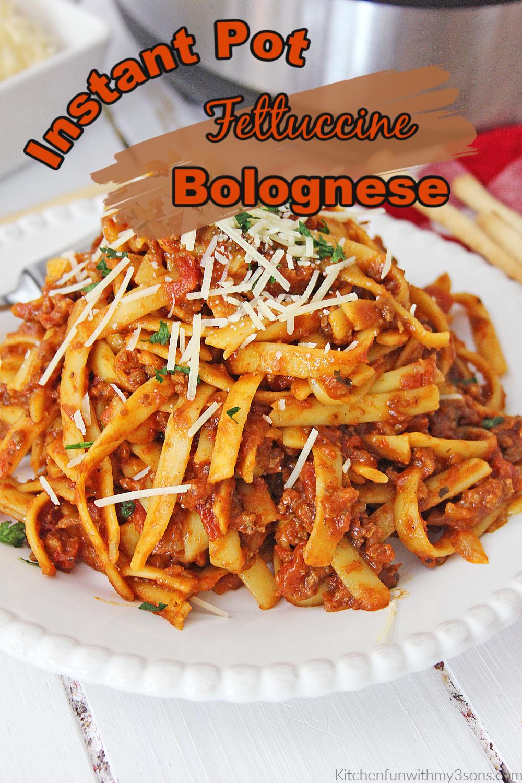 Instant Pot Fettuccine Bolognese