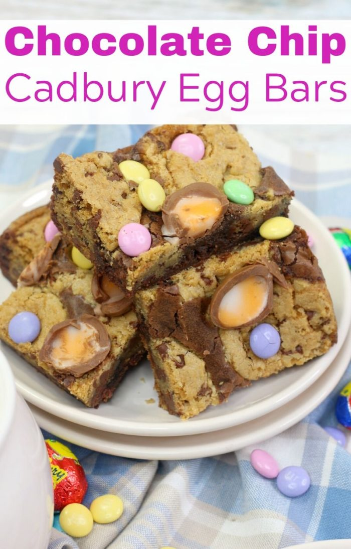 Chocolate Chip Cadbury Egg Bars