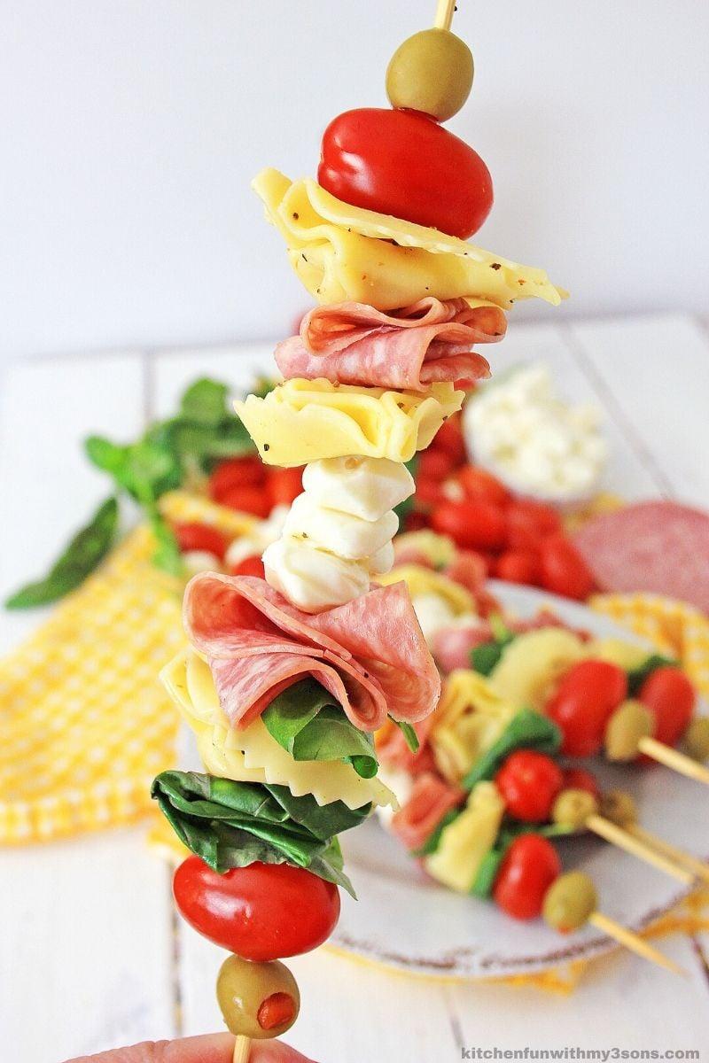Easy Antipasto Skewers Appetizer