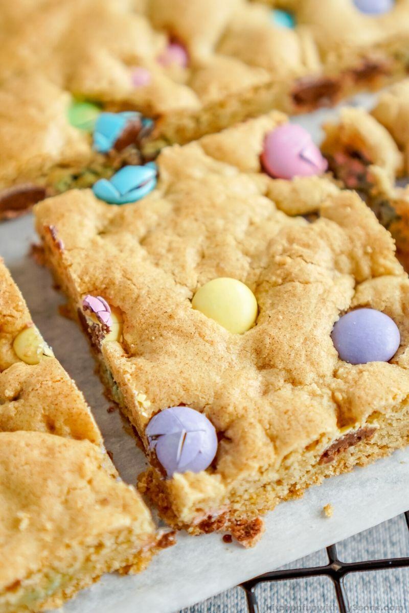 Easter Homemade Blondie Brownies
