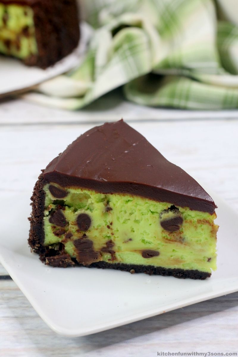 Instant Pot chocolate mint cheesecake