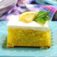 Lemon Crazy Cake - No Milk, Eggs or Butter!