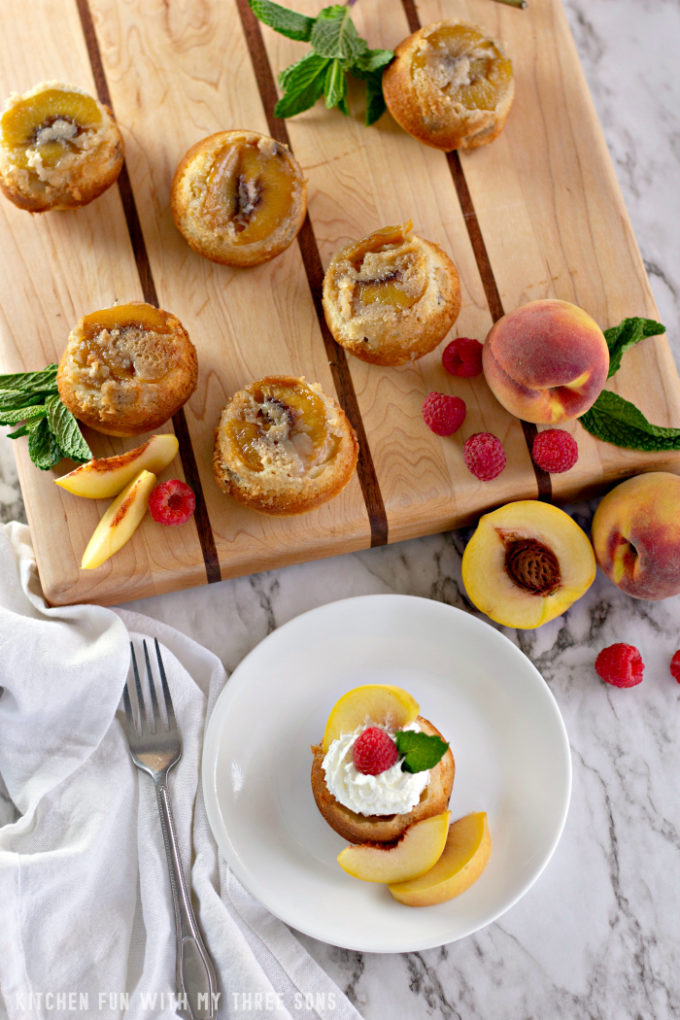 Mini Peach Upside Down Cakes