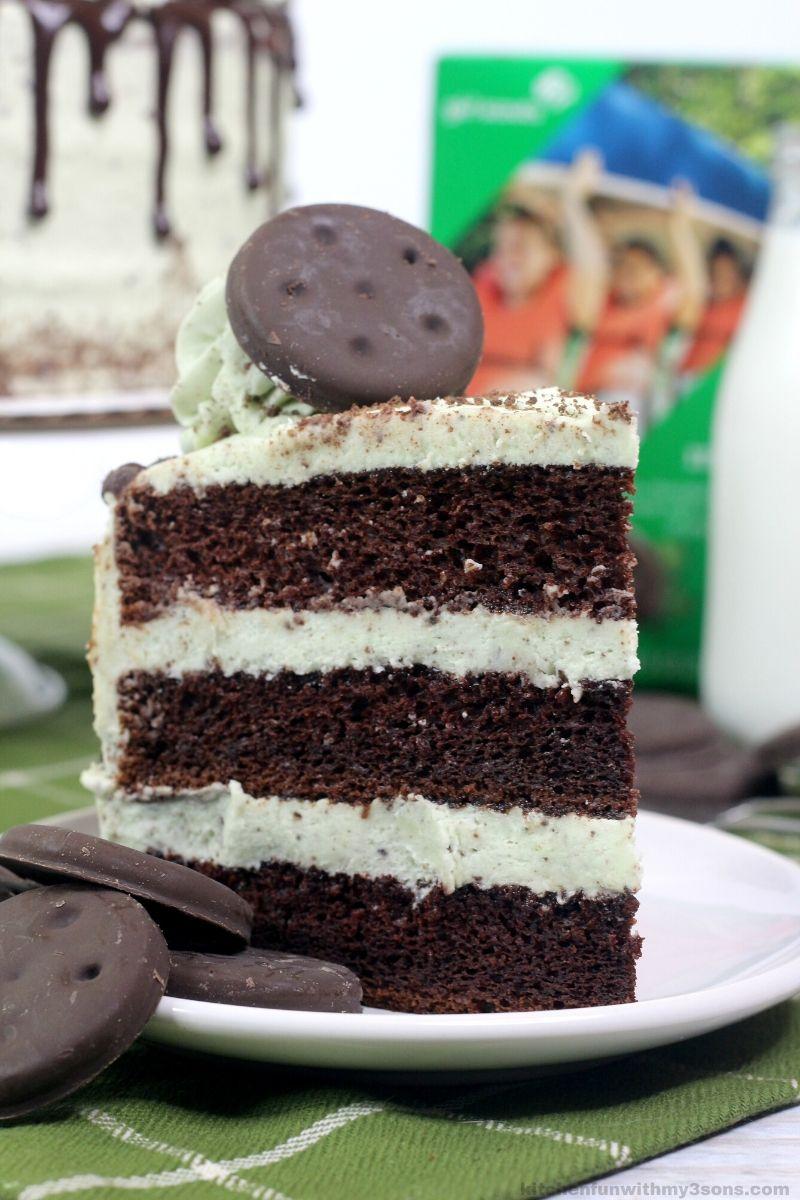 Thin Mint Chocolate Mint Layer Cake Recipe