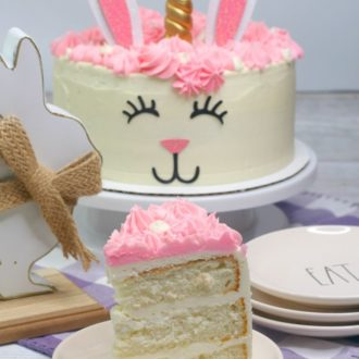 Unicorn Easter Bunny Cake Recipe