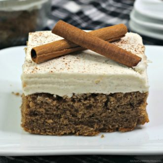 Cinnamon Crazy Cake with Cream Cheese Frosting