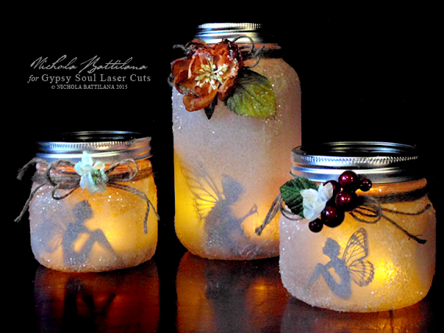 Silhouette Fairy Mason Jar Lights