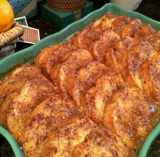 Overnight French Toast in a baking pan