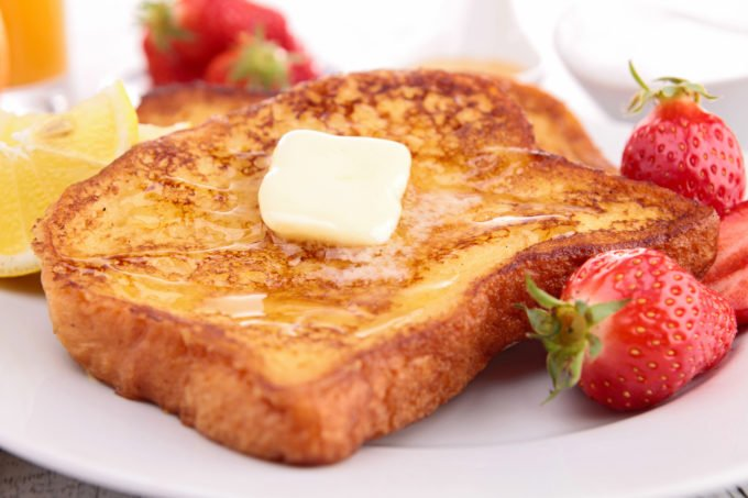 French Toast with melted butter and syrup