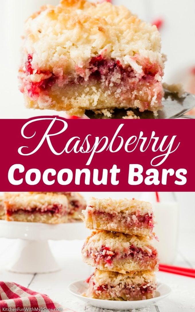 Raspberry Coconut Bars