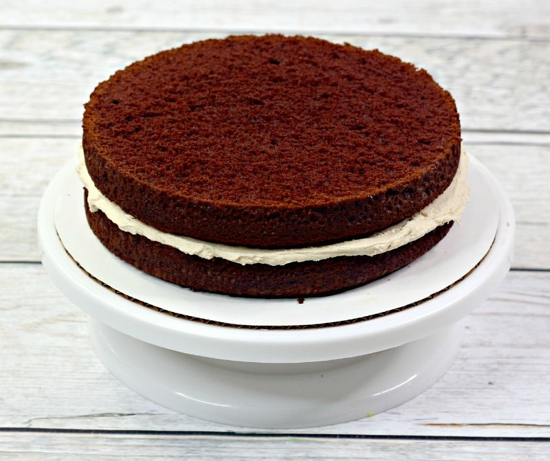 2 layers of chocolate cake
