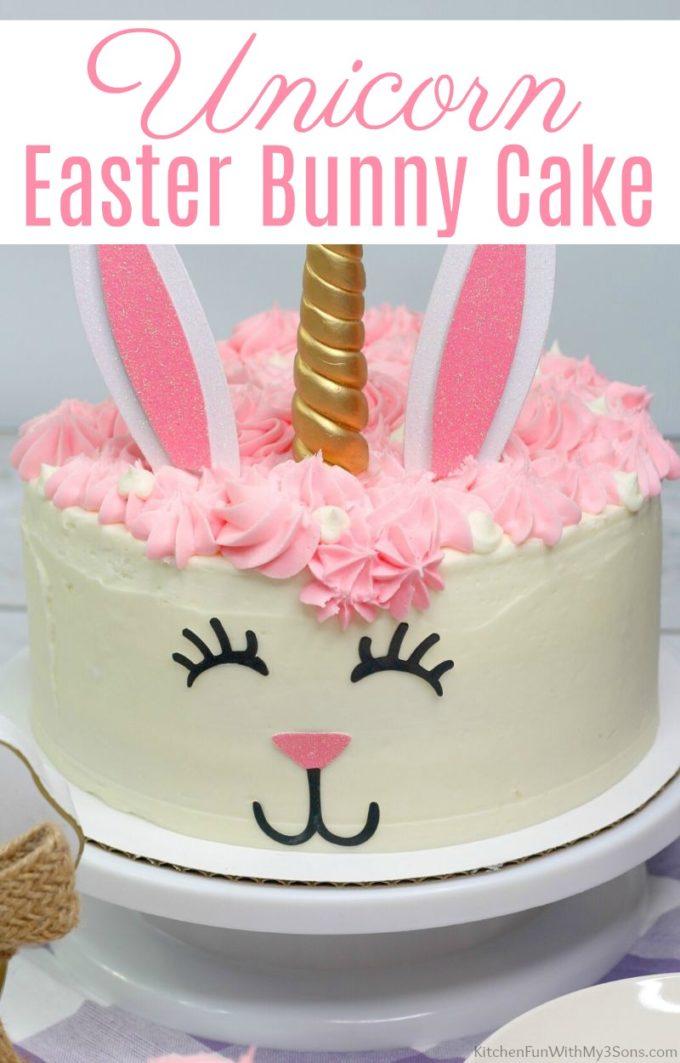 Unicorn Easter Bunny Cake