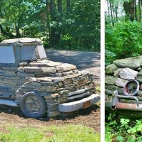 Vintage Cars and Trucks Out of Rocks
