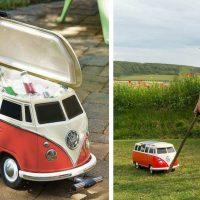 Cute Rolling Volkswagen Bus Cooler
