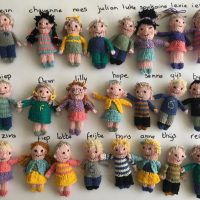 Teacher Knitted 23 Dolls of Her Students