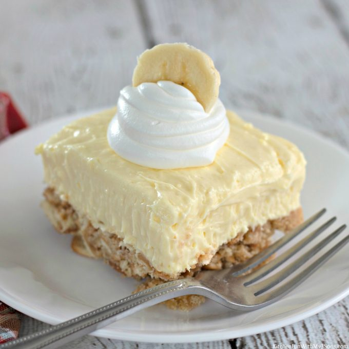 Banana Cream Cheesecake Squares