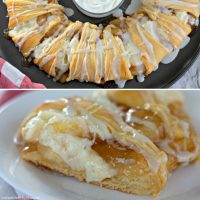 Caramel Apple Cream Cheese Crescent Ring
