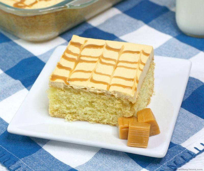 Caramel Tres Leches Three Milk Cake
