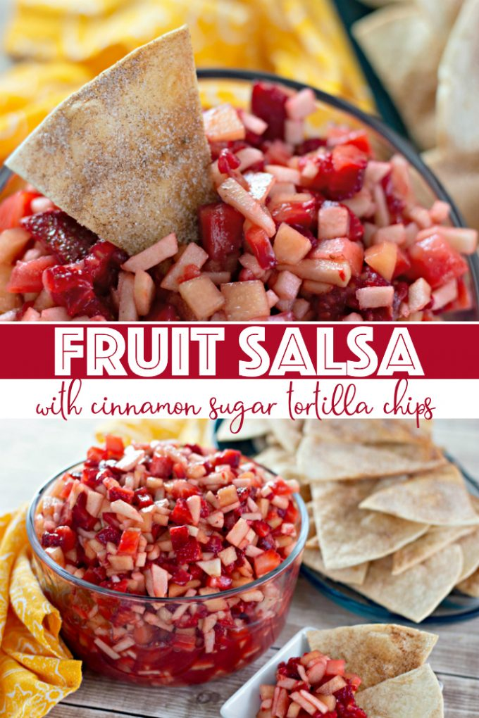 Fruit Salsa with Cinnamon Tortilla Chips on Pinterest
