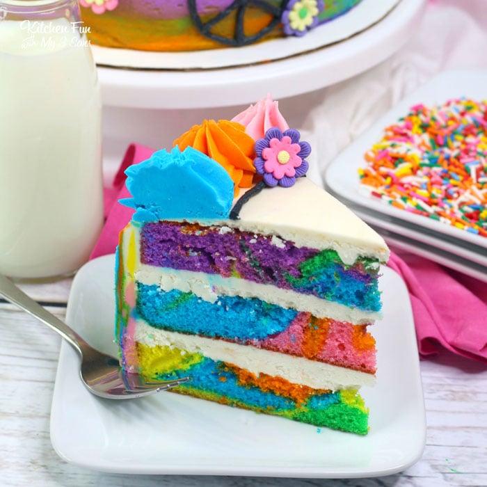 1970's Tie Dye Cake