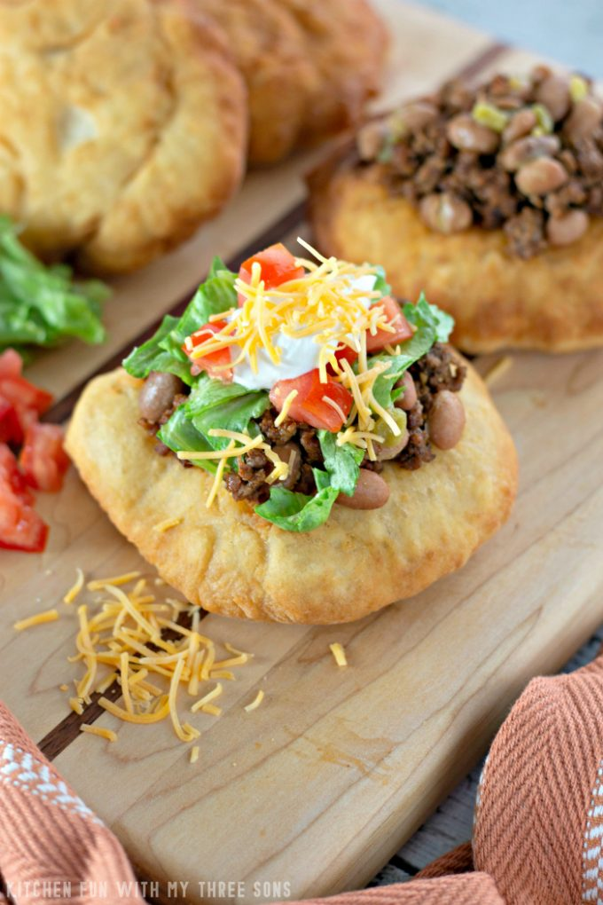 Soft and Fluffy Fry Bread Tacos