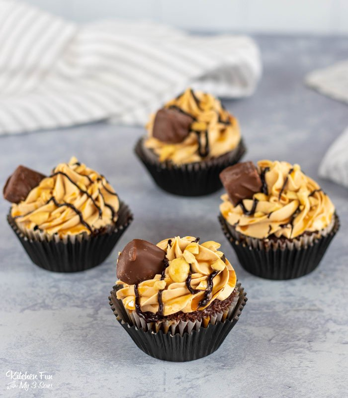 Snickers Cupcakes are incredibly delicious and so easy to make. From a boxed cake mix comes this incredible dessert inspired by our love of Snickers bars.