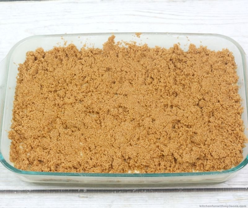 cake covered with crumbs