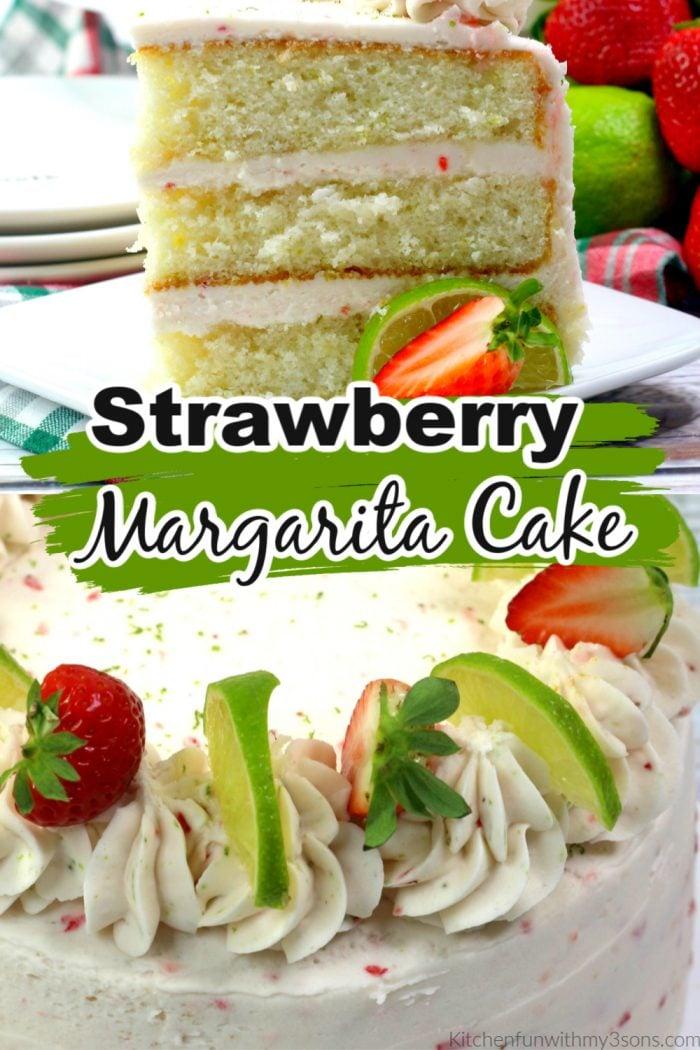 Strawberry Margarita Cake for pinterest
