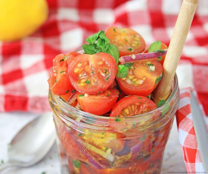 tomatos in a jar