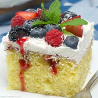 Triple Berry Sheet Cake