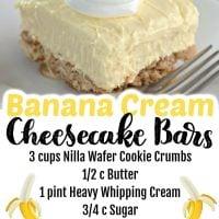 Banana Cream Cheesecake Bars