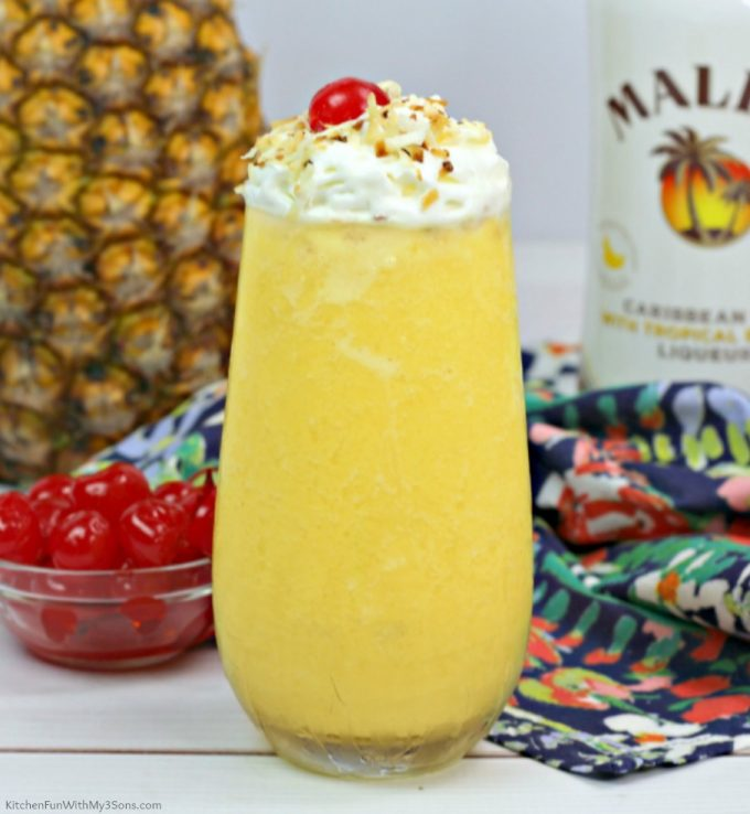 Dole Whip with Rum and Whipped Cream