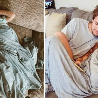 Cooling Blanket that Absorbs Your Heat