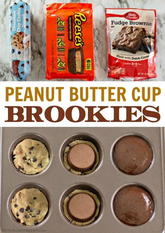 Peanut Butter Cup Brookies