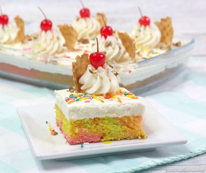 rainbow sherbert cake