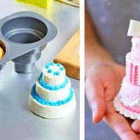 Bake a Mini Tiered Cake with This Pan
