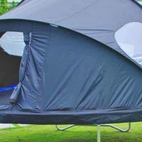 Trampoline Tent Cover for Campouts in the Backyard