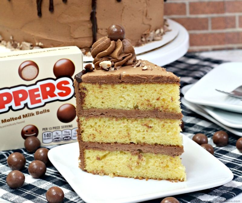 whopper cake on a white plate