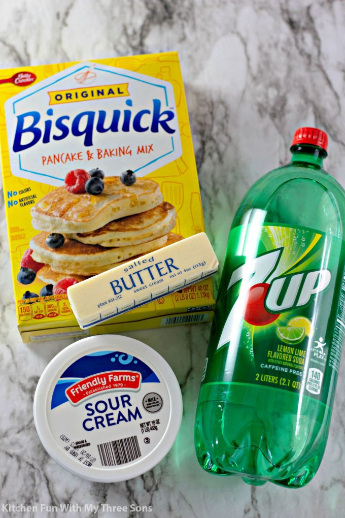 ingredients to make 7 Up Biscuits Recipe